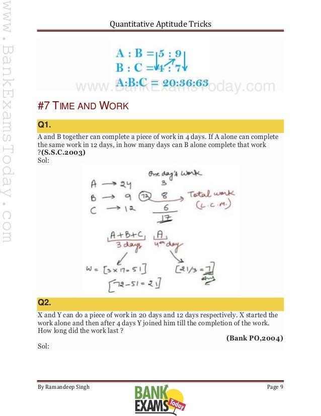 Tricks shortcut and pdf work time