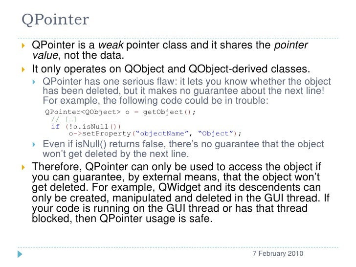 QPointer   QPointer is...