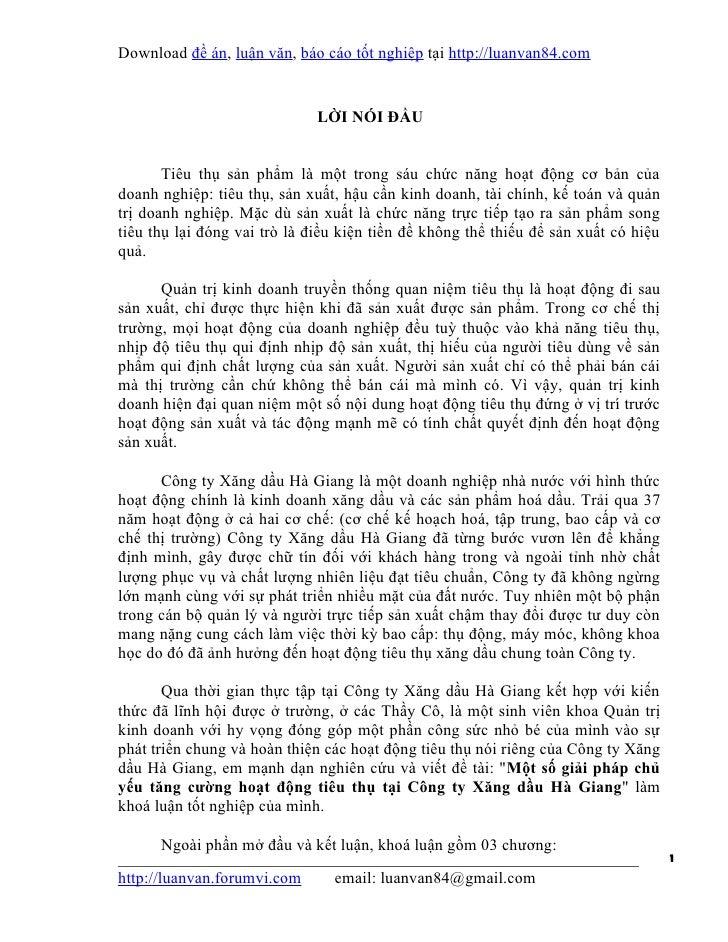 Download đề án, luận văn, báo cáo tốt nghiệp tại http://luanvan84.com                              LỜI NÓI ĐẦU       Tiêu ...