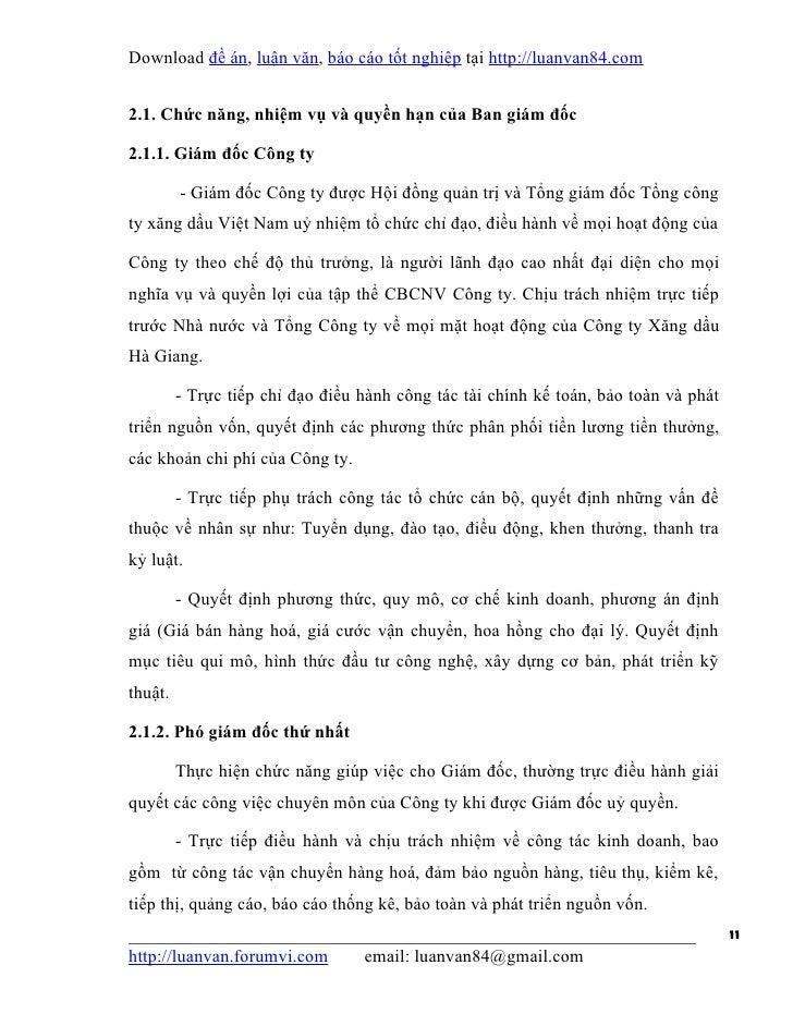 Download đề án, luận văn, báo cáo tốt nghiệp tại http://luanvan84.com2.1. Chức năng, nhiệm vụ và quyền hạn của Ban giám đố...