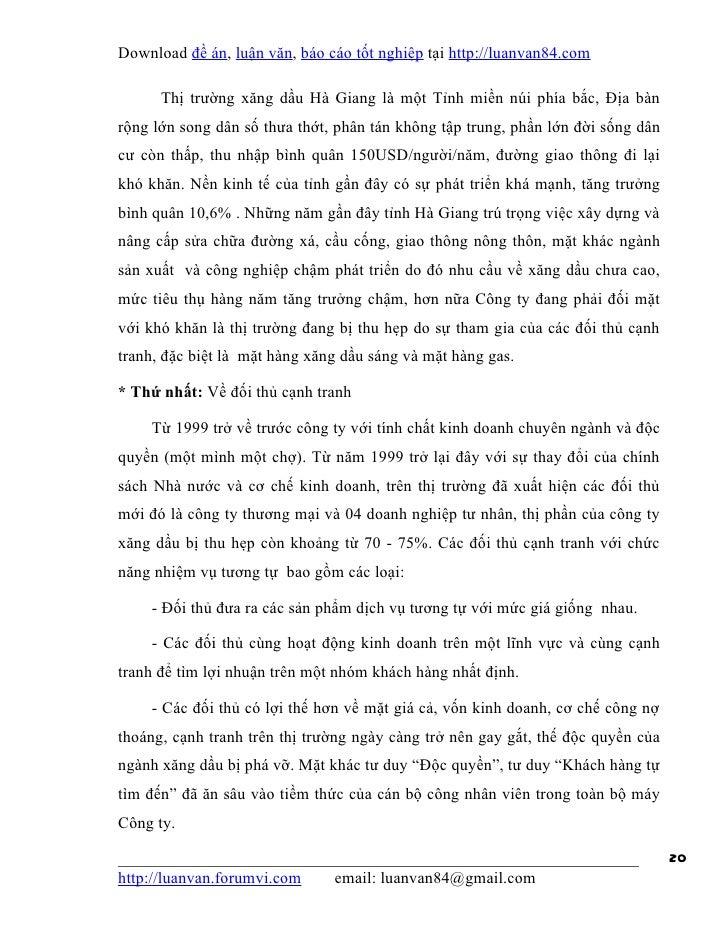 Download đề án, luận văn, báo cáo tốt nghiệp tại http://luanvan84.com      Thị trường xăng dầu Hà Giang là một Tỉnh miền n...