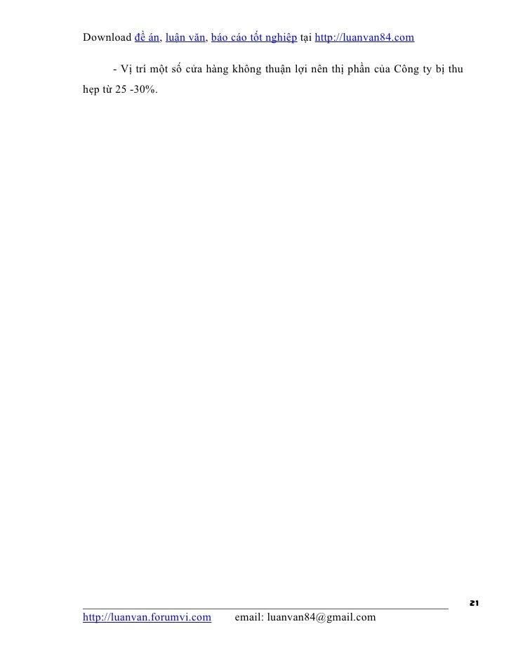 Download đề án, luận văn, báo cáo tốt nghiệp tại http://luanvan84.com      - Vị trí một số cửa hàng không thuận lợi nên th...