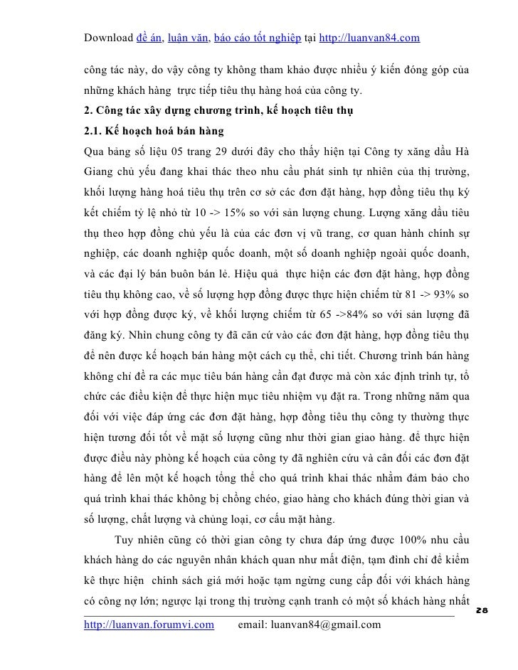 Download đề án, luận văn, báo cáo tốt nghiệp tại http://luanvan84.comcông tác này, do vậy công ty không tham khảo được nhi...
