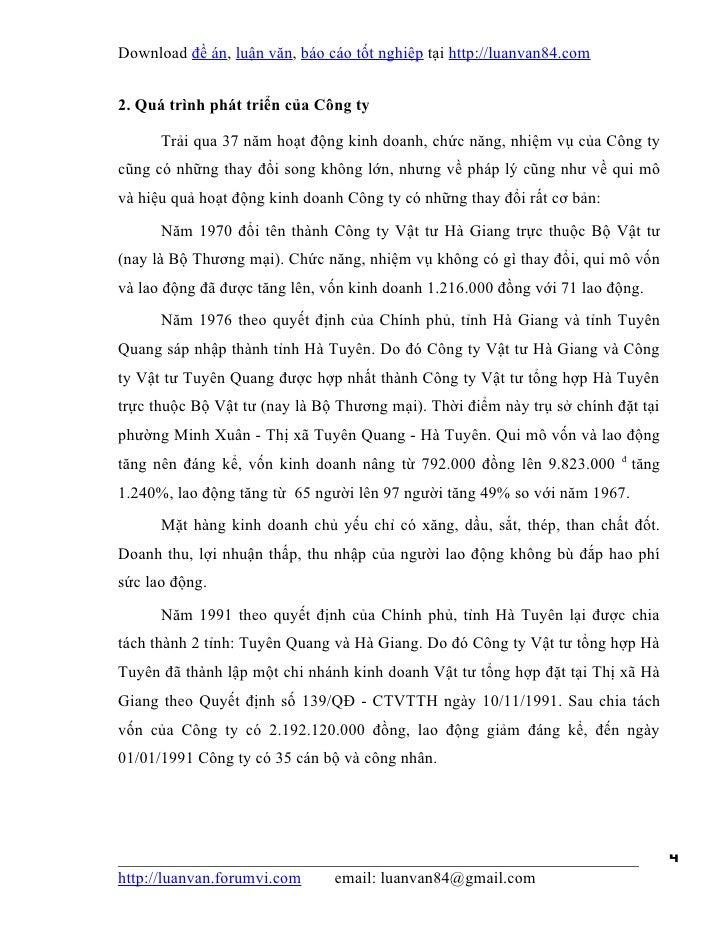 Download đề án, luận văn, báo cáo tốt nghiệp tại http://luanvan84.com2. Quá trình phát triển của Công ty      Trải qua 37 ...
