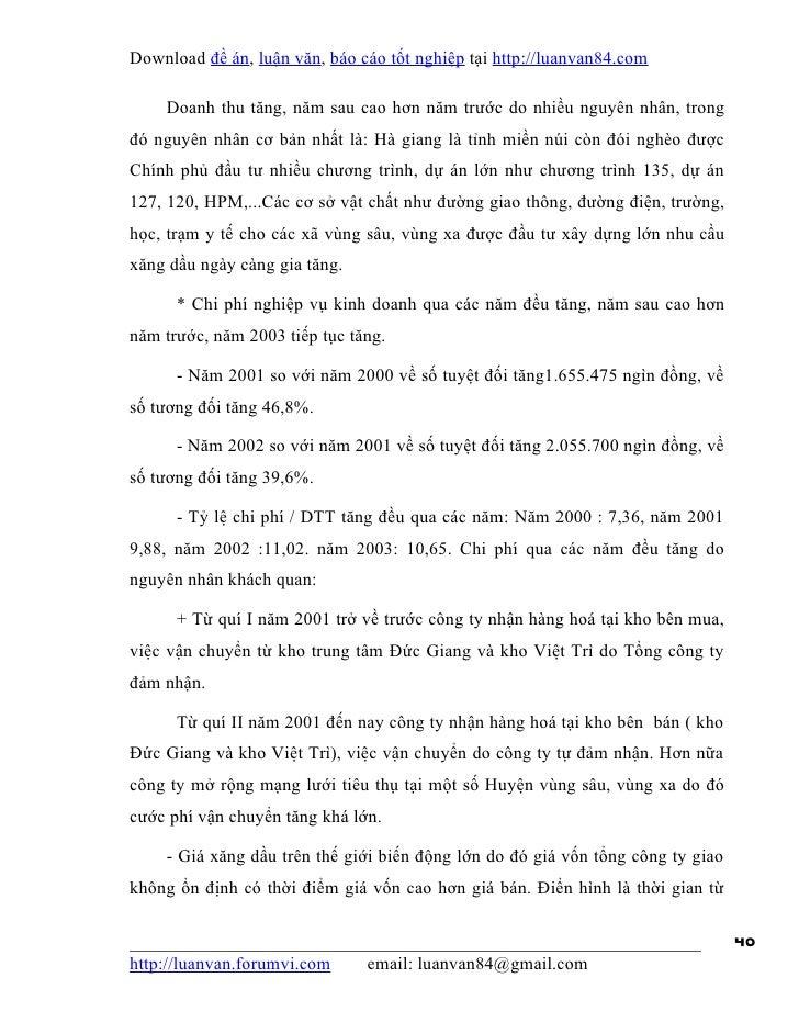 Download đề án, luận văn, báo cáo tốt nghiệp tại http://luanvan84.com    Doanh thu tăng, năm sau cao hơn năm trước do nhiề...