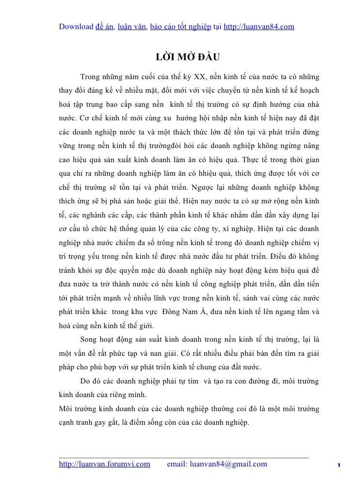 Download đề án, luận văn, báo cáo tốt nghiệp tại http://luanvan84.com                                 LỜI MỞ ĐẦU      Tron...