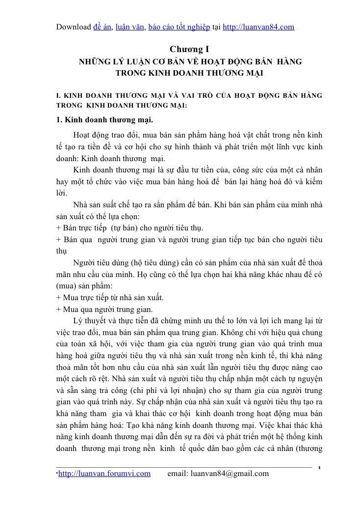 Download đề án, luận văn, báo cáo tốt nghiệp tại http://luanvan84.com                                 Chương I      NHỮNG ...