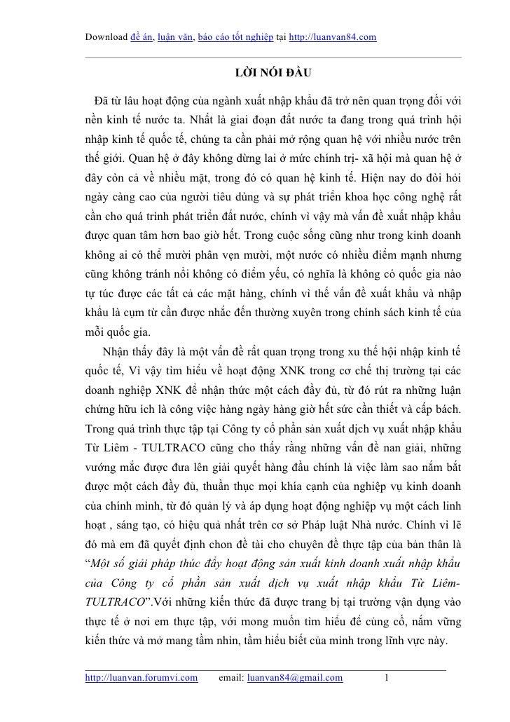 Download đề án, luận văn, báo cáo tốt nghiệp tại http://luanvan84.com                                   LỜI NÓI ĐẦU  Đã từ...