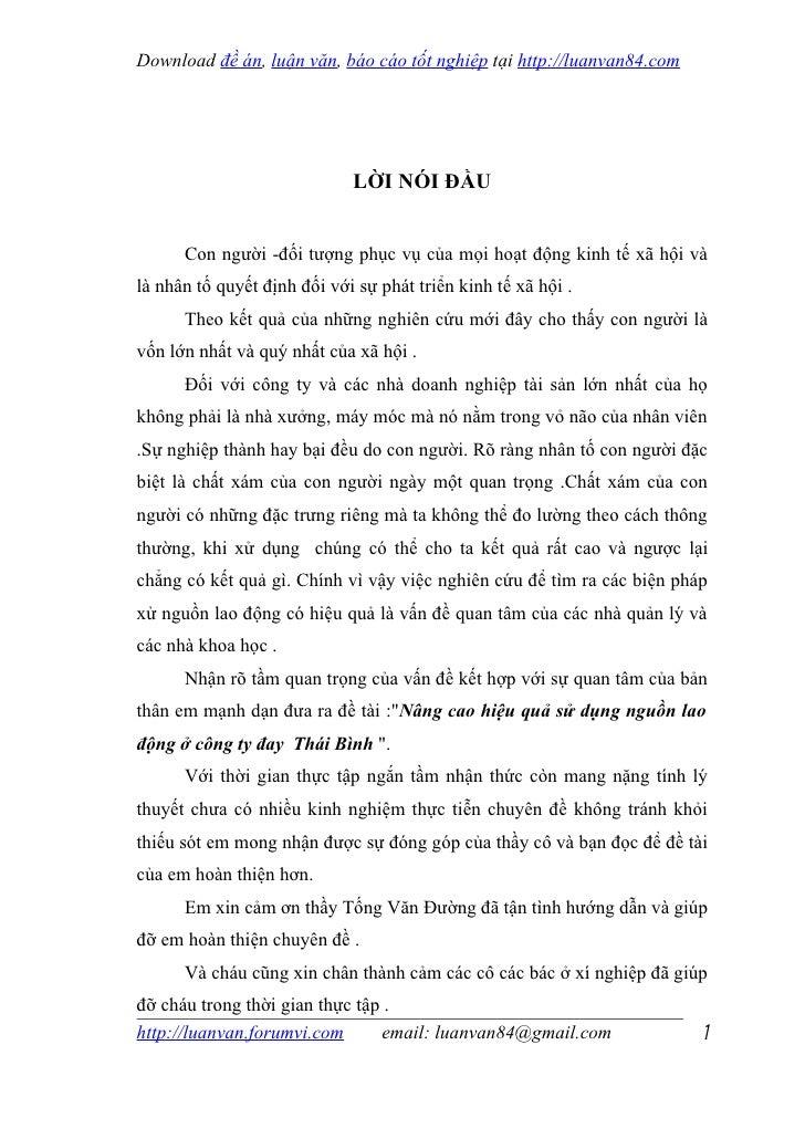 Download đề án, luận văn, báo cáo tốt nghiệp tại http://luanvan84.com                             LỜI NÓI ĐẦU      Con ngư...