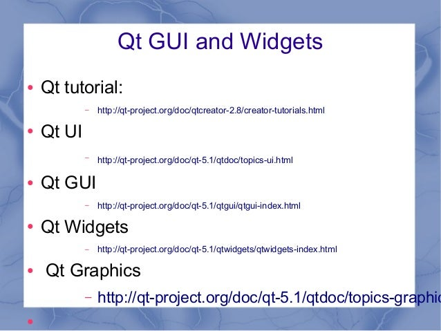 Qt 5 - C++ and Widgets
