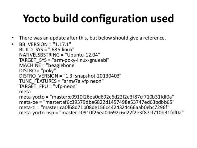 Qt5 (minimal) on beaglebone, with Yocto