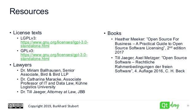 Copyright 2019, Burkhard Stubert Resources • License texts • LGPLv3: https://www.gnu.org/licenses/lgpl-3.0- standalone.htm...