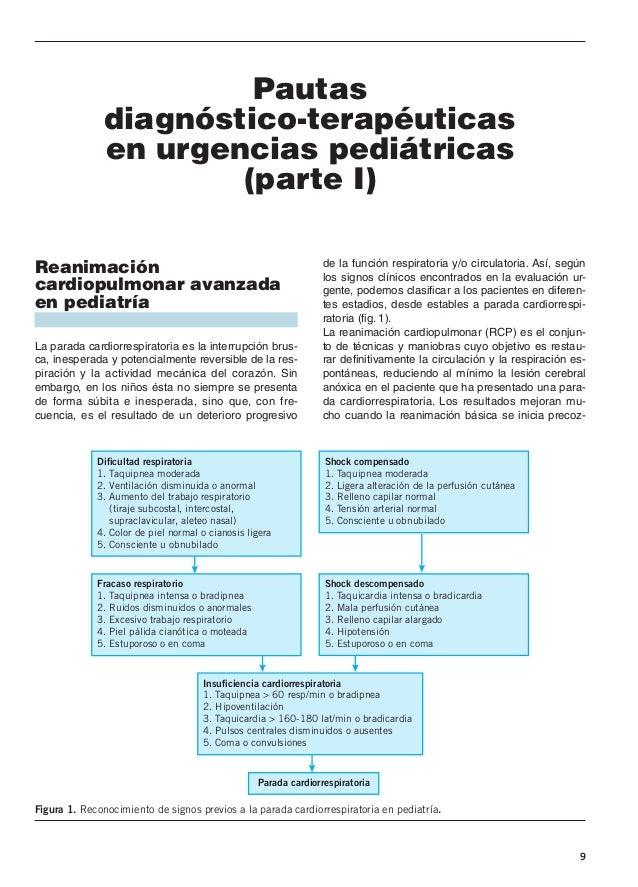 9 Pautas diagnóstico-terapéuticas en urgencias pediátricas (parte I) Reanimación cardiopulmonar avanzada en pediatría La p...