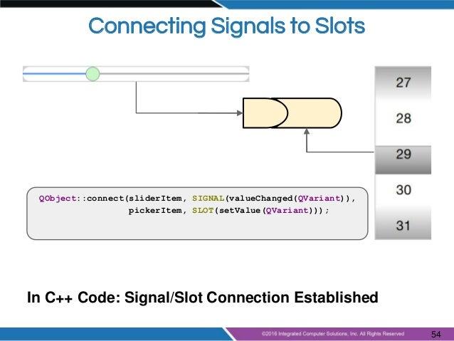 qml signals and slots