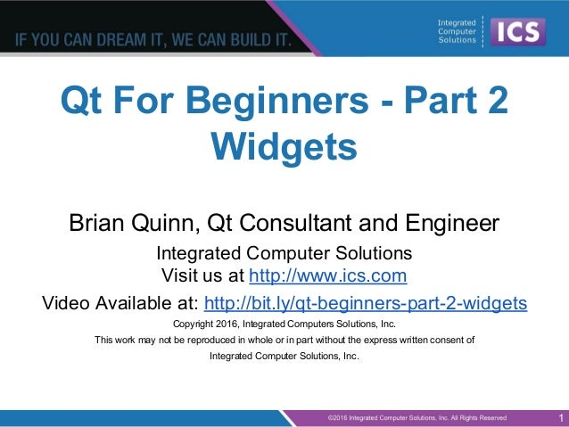 Qt for beginners part 2 widgets