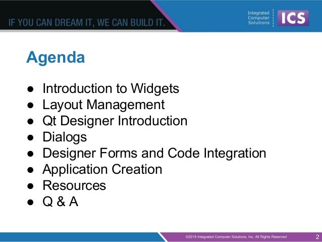 Qt for beginners part 2 widgets