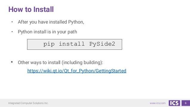 Qt for Python