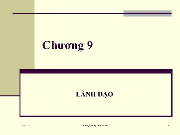 Chương 9 LÃNH ĐẠO