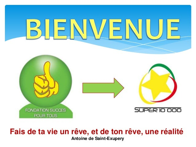 1 Fais de ta vie un rêve, et de ton rêve, une réalité Antoine de Saint-Exupery