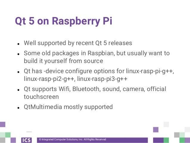 Qt on Raspberry Pi