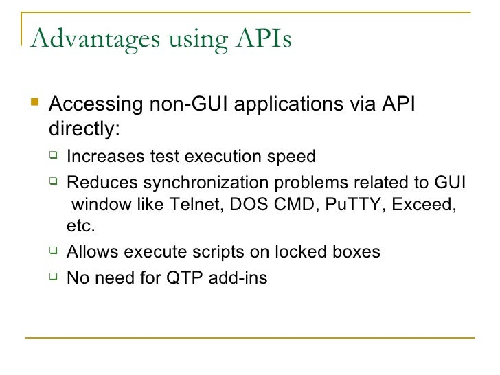 Qtp not just for gui anymore