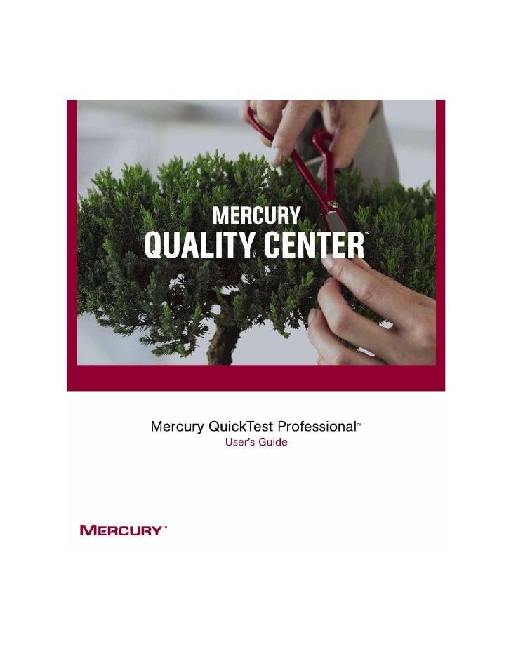 Mercury QuickTest Professional                      User's Guide                        Version 8.0.1