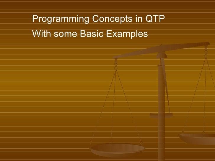 Qtp 9.2 examples