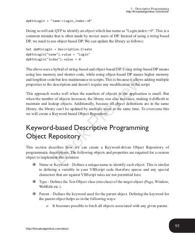 Qtp Descriptive Programming Pdf