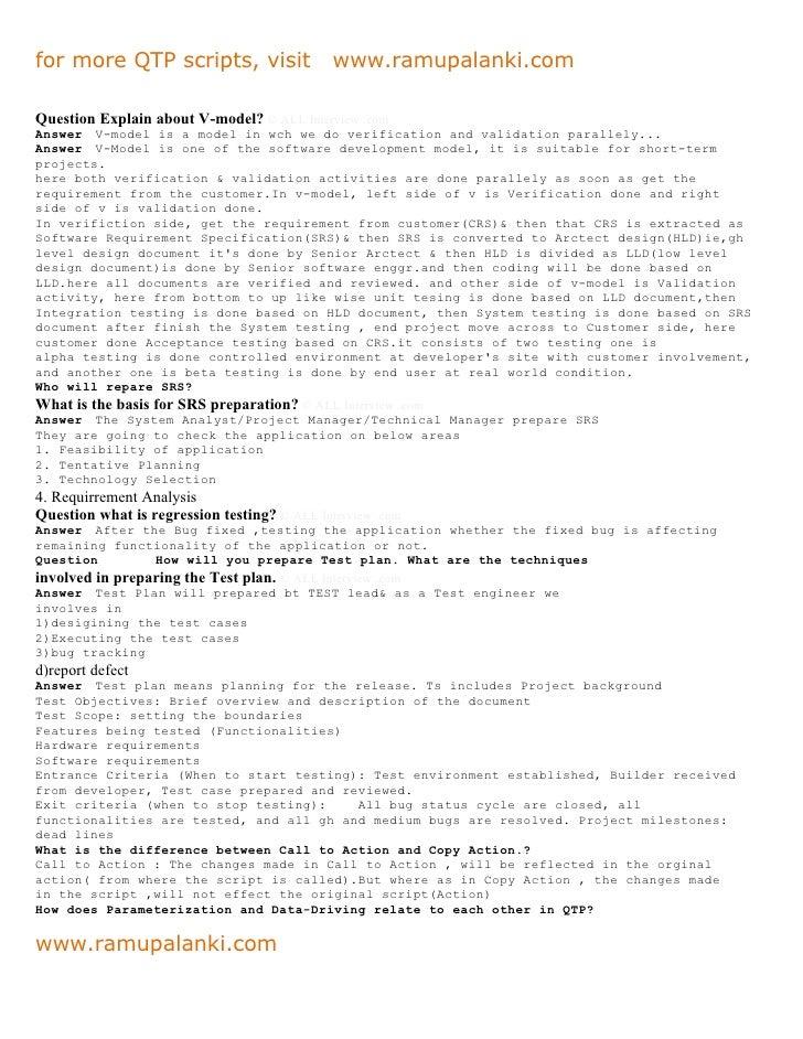 Qtp interview questions