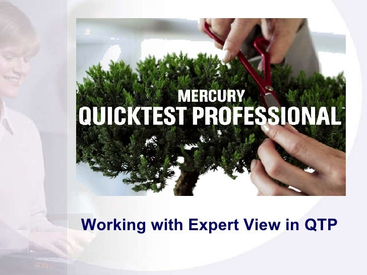 Working with Expert View in QTP