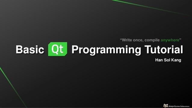 QT 프로그래밍 기초(basic of QT programming tutorial)