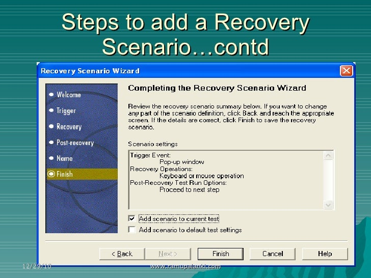 difference between recovery scenario and on error resume next in