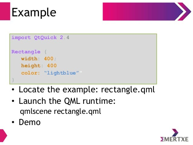UI Programming with Qt-Quick and QML