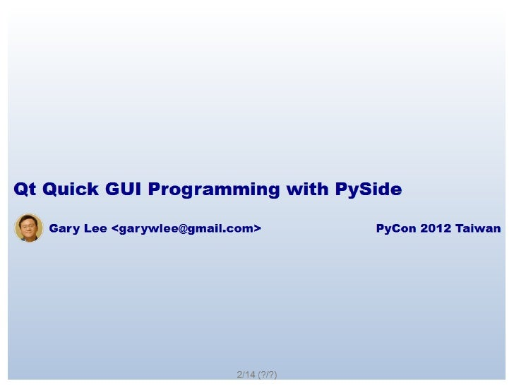 Qt Quick GUI Programming with PySide