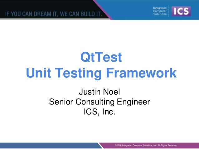 Qt test framework