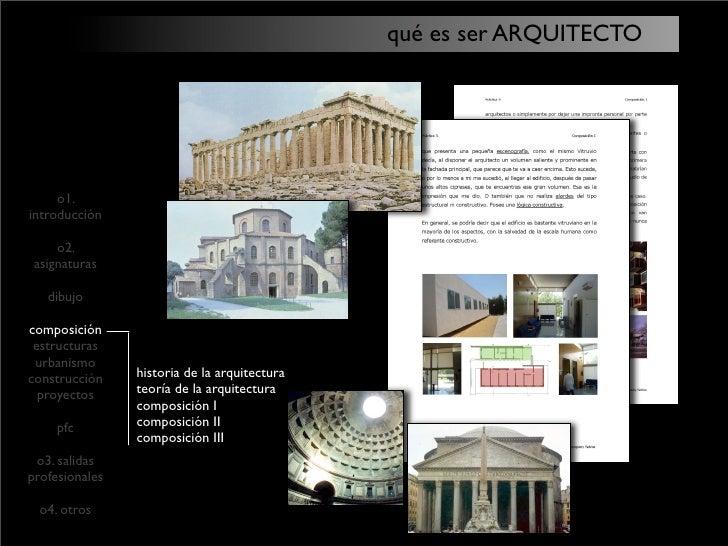 Qu Es Ser Arquitecto By Nacho Pablo