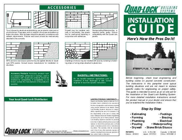 Quad-Lock Insulated Concrete Forms Installation Guide