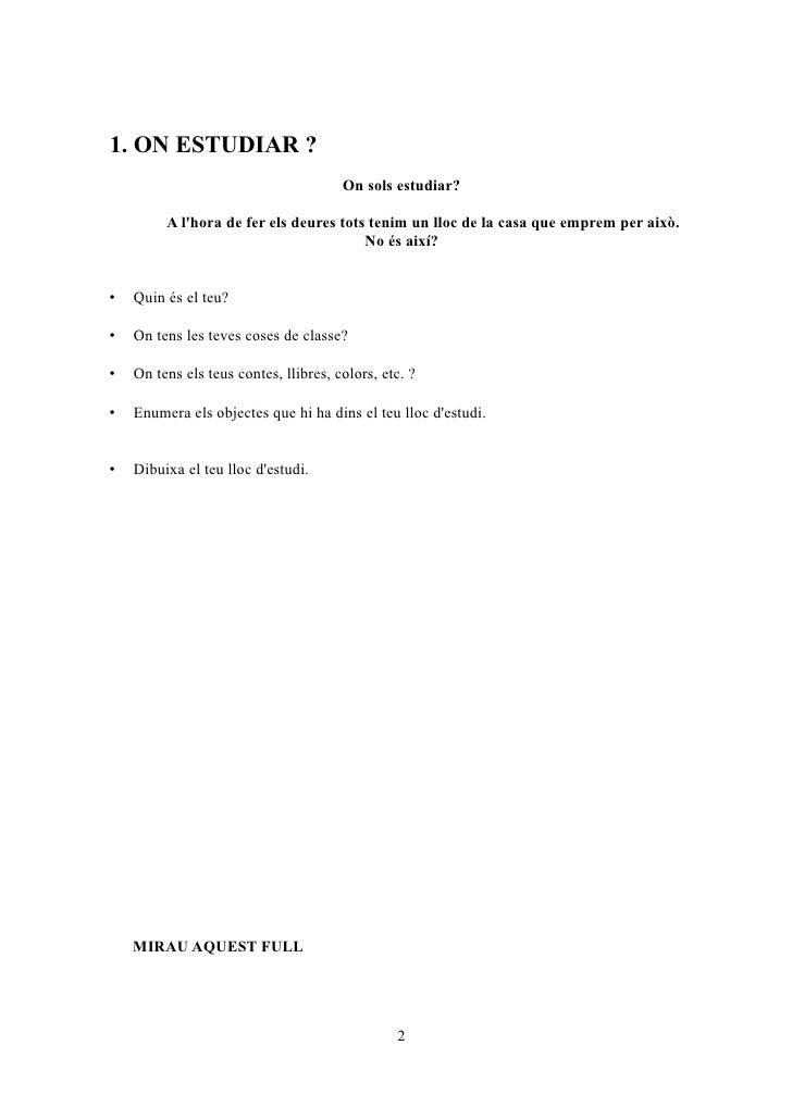 Quadernet de Hàbits i Tècniques d'estudi Slide 2
