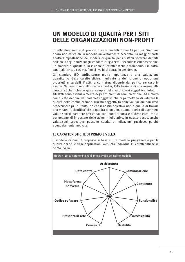 IL CHECK-UP DEI SITI WEB DELLE ORGANIZZAZIONI NON-PROFIT  • Comunità. Si riferisce alla capacità dell'organizzazione di c...