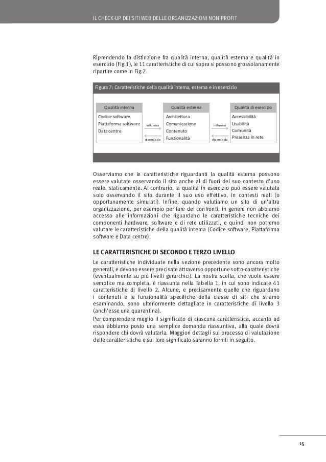 IL CHECK-UP DEI SITI WEB DELLE ORGANIZZAZIONI NON-PROFIT  Funzionalità Le funzionalità del sito sono adeguate, affidabili ...