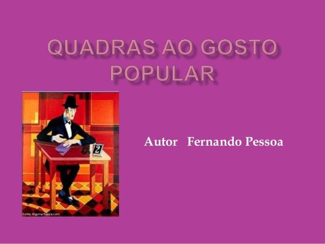 Autor Fernando Pessoa