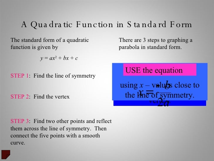 What Is The Standard Form Of A Quadratic Equation Dolapgnetband