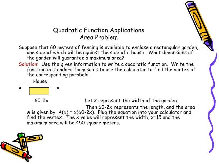 Quadratic Applications Ver B
