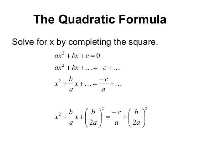 The Discriminant in Quadratic Equations--visual tutorial with ...