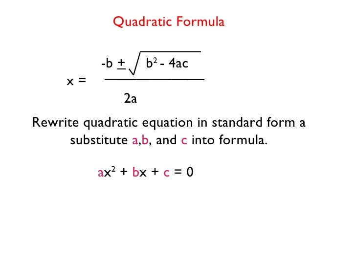 quadratic-equations-1-728 Quadratic Equation In Standard Form Examples on