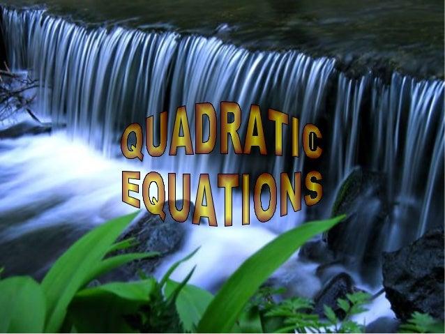 Quadratic equations Quadratic Equation In Real Life