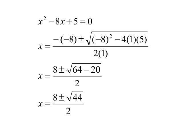 quadratic equation and marks A basic quadratic formula program for your calculator  make sure you're careful  with your quotation marks and parentheses, and always test the program with.
