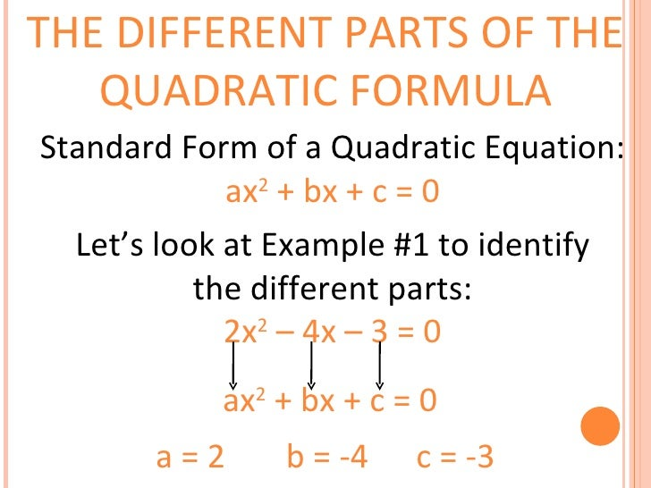 Quadratic Formula Presentation