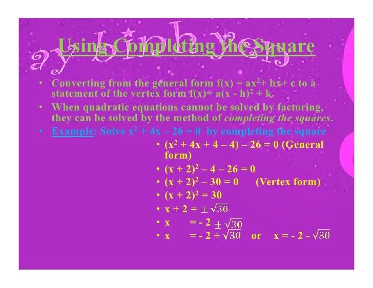 Quadratic Function Presentation