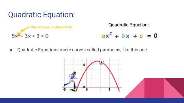 Quadratics project Quadratic Equation In Real Life